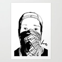 ASAP Rocky Drawing Art Print