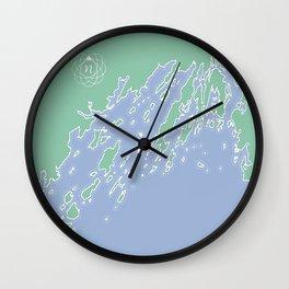 Casco Bay Maine USA Wall Clock