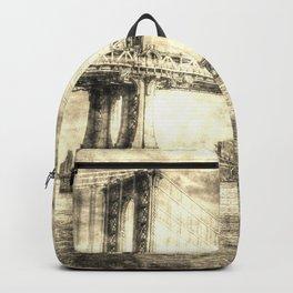 Manhattan Bridge New York Vintage Backpack