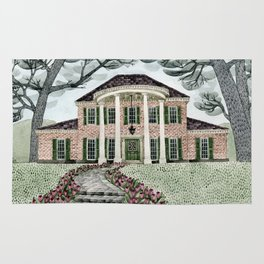 House With Tulips Rug