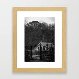 Winter House Framed Art Print