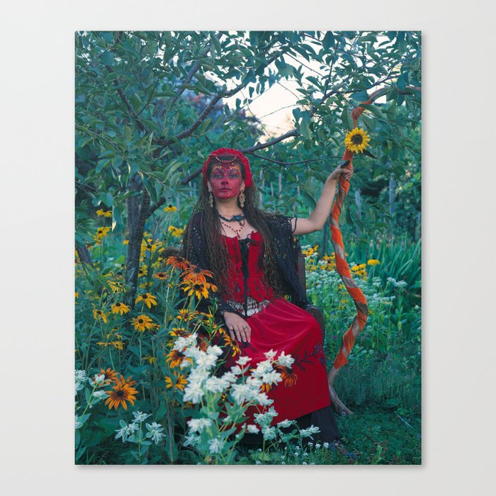 The Woman of Wands Canvas Print