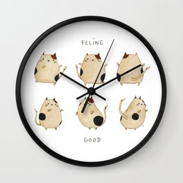 Feline good! Wall Clock