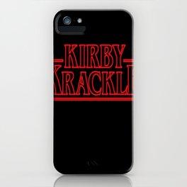 Kirby Krackle - Upside Down Logo iPhone Case