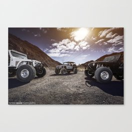 3 Jeeps  Canvas Print