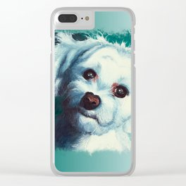 Maltese dog - Pelusa - by LiliFlore Clear iPhone Case