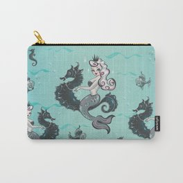 Pearla on Seahorse Carry-All Pouch