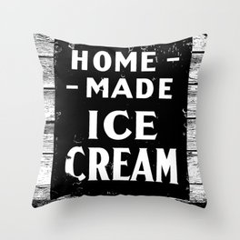 Home-made Ice Cream Vintage Sign Throw Pillow