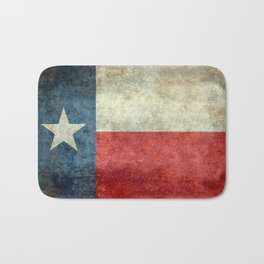 State flag of Texas, Lone Star Flag of the Lone Star State Bath Mat