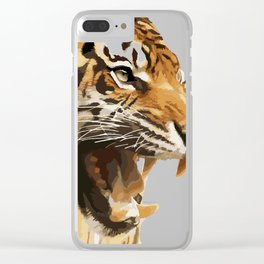 Royal tiger Clear iPhone Case