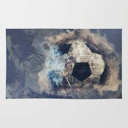 Abstract Grunge Soccer Rug