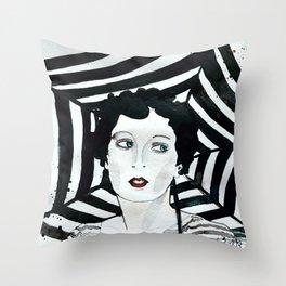Stripy Umbrella Throw Pillow