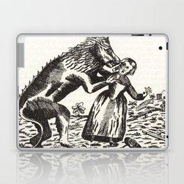 Werewolf attack Medieval etching Laptop & iPad Skin