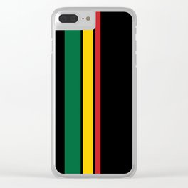 Get Up Stand Up / Rasta Vibrations Clear iPhone Case