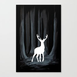Glowing White Stag Canvas Print