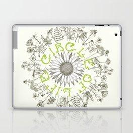Circle Of Life Mandala With Hand Drawn Flowers Laptop & iPad Skin