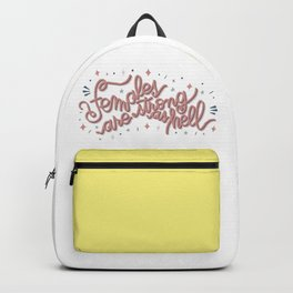 Females are strong as hell - pink Backpack