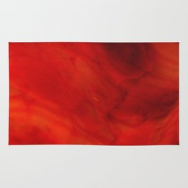 Red glass Rug
