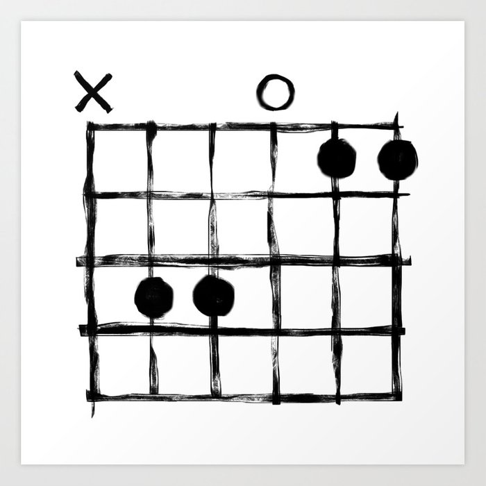 Csus Chord Art Print by csus | Society6