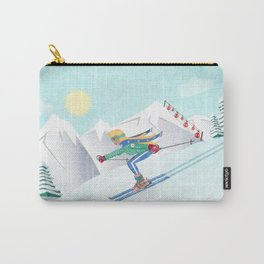 Skiing Girl Carry-All Pouch
