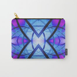 Futuristic Abstract Art Blue and Purple Carry-All Pouch