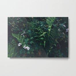 Fleurs Vertes Metal Print