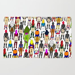 Superhero Butts - Girls Superheroine Butts LV Rug