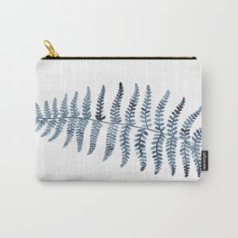 Indigo Fern 1   Watercolour Painting Carry-All Pouch