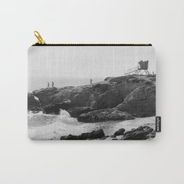 Leo Carrillo State Beach | Malibu California | Black and White Photography | Malibu Photography Carry-All Pouch