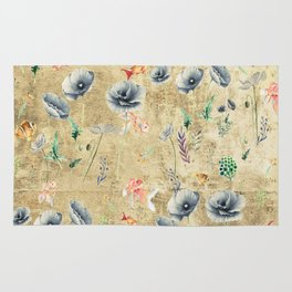 Fishes & Garden #Gold-plated Rug
