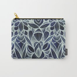 Ballpoint Pattern in Indigo Carry-All Pouch