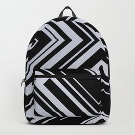 Black and White X Tribal Pattern Shapes Geometric Geometry Contrast I Backpack