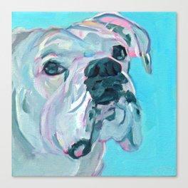 Bella the White Boxer Girl Canvas Print