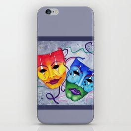 Comedy and Tragedy iPhone Skin