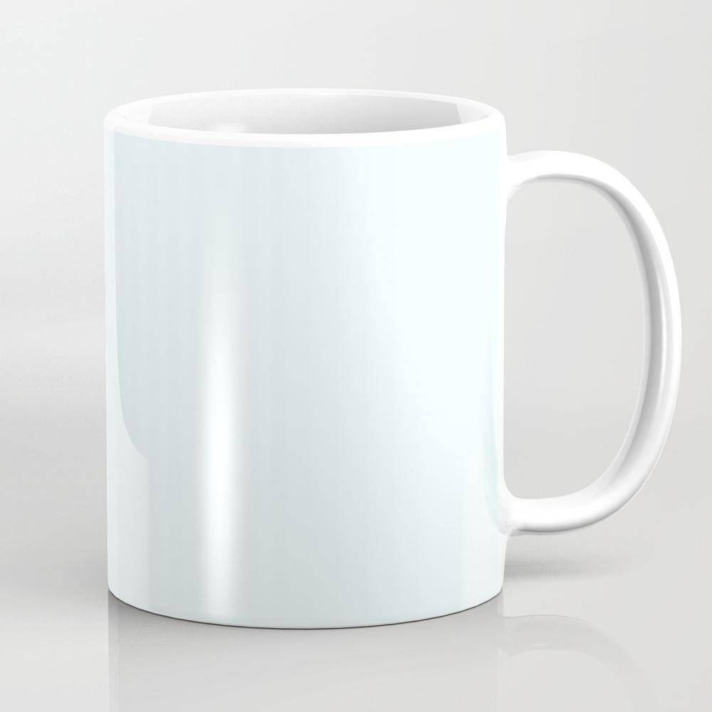 Cheap Solid Light Azure Blue Color Mug by Podartist MUG8952921
