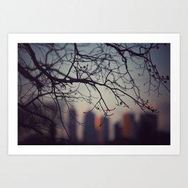 Melbourne treescape Art Print