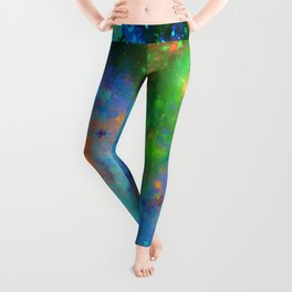 Speed Of Light - Abstract space painting Leggings