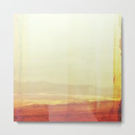 Modern Desert Landscape, Minimal Southwest Wall Art, Abstract New Mexico Metal Print