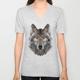 wolf trendy Unisex V-Neck