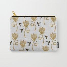 Hummingbird & Flower I Carry-All Pouch