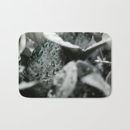 Leaves in Black Bath Mat