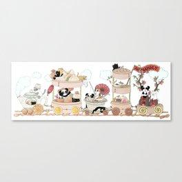 The Happy Dim Sum Train Canvas Print
