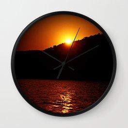 Beautiful Red Sunset #1 Wall Clock