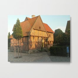 Old Architecture Of Ystad Metal Print