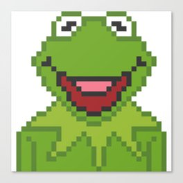 Kermit The Muppets Pixel Character Canvas Print