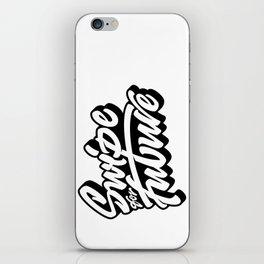 Swipe for Future Lettering iPhone Skin