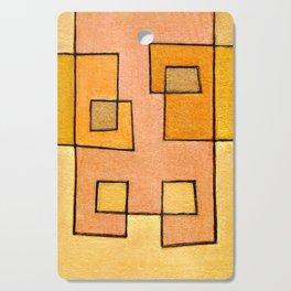 Protoglifo 04 'yellow hugging pink' Cutting Board