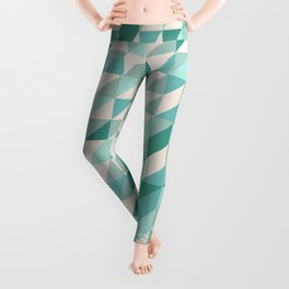 Hashed Blue Leggings