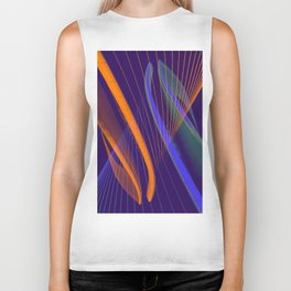 curved lines in architecure Biker Tank