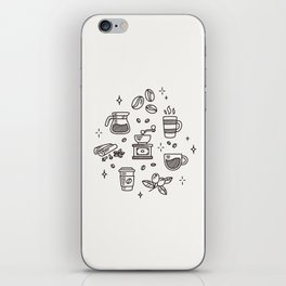 Coffee Doodles iPhone Skin